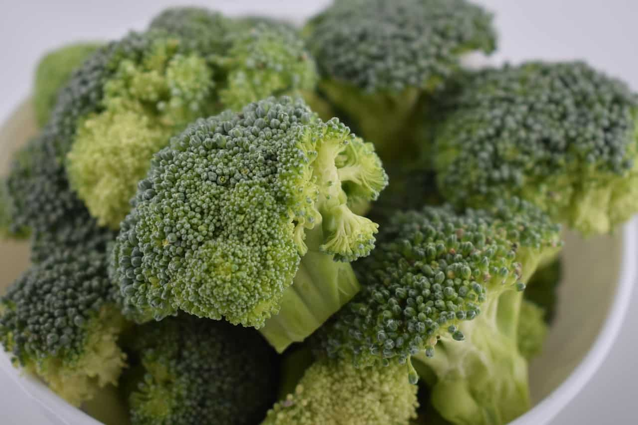 A close up of a piece of broccoli
